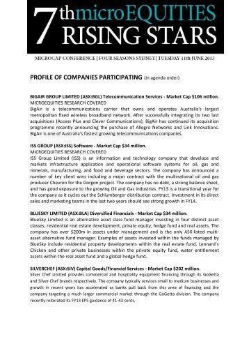 Company Profile The Board Possesses Extensive Experience