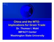 China and the WTO - IMPACT Center - Washington State University