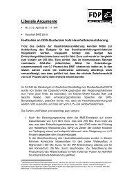 Liberale Argumente - FDP-Bundestagsfraktion