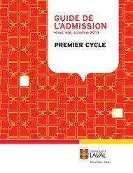 Guide de l'admission au premier cycle - Université Laval