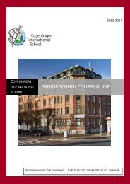Course Outline - Copenhagen International School