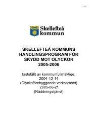 Handlingsprogram för skydd mot olyckor - Skellefteå kommun
