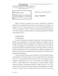 CONEAU - Facultad de Medicina - Universidad Nacional del Nordeste