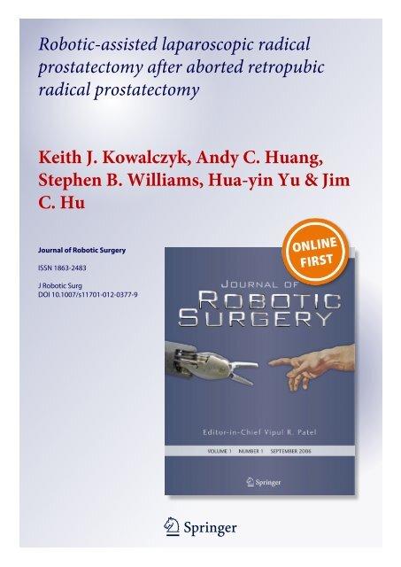 Robotic Assisted Laparoscopic Radical Prostatectomy After Casit