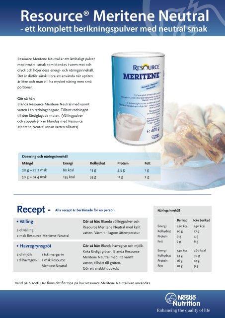 Resource® Meritene Neutral - Nestlé Nutrition