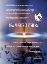 New aspects of systems - WSEAS