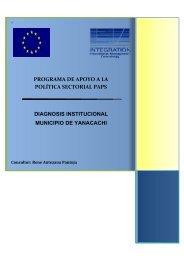 Diagnosis Municipio Yanacachi - Viceministerio de Coca y ...