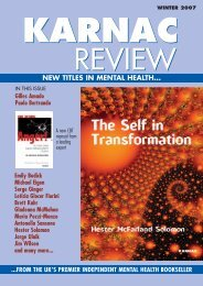 NEW TITLES IN MENTAL HEALTH... - Karnac Books