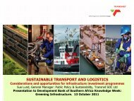 sustainable transport and logistics