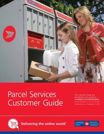 Parcel Services Customer Guide - Canada Post
