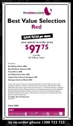 Best Value Selection April 2010 - Red - The Wine Society