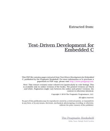 PDF C EMBEDDED FOR TEST-DRIVEN DEVELOPMENT