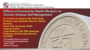 The Effect of CHWs on Chronic Diseases Self ... - Chpfs.org