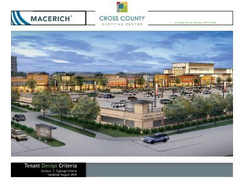 Cross County Shopping Center Signage Criteria Manual - Macerich