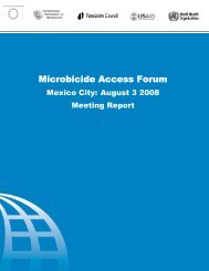 Microbicide Access Forum - International Partnership For Microbicides
