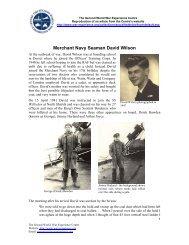 Merchant Navy Seaman David Wilson - The Second World War ...