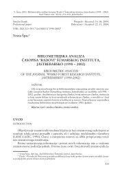 BIBLOMETRIJSKA ANALIZA ^ASOPISA