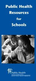 Public Health Resources Schools - King County