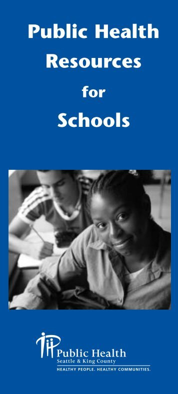 Public Health Resources Schools - King County