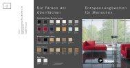 Die Farben der Oberflächen Entspannungswelten für Menschen