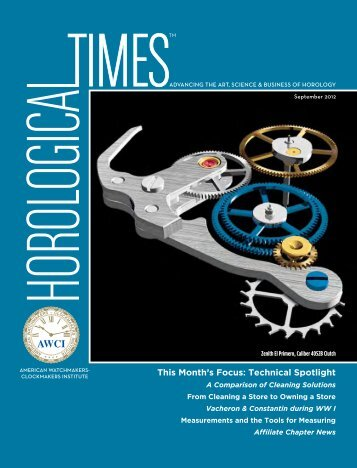 PDF Version - The American Watchmakers-Clockmakers Institute