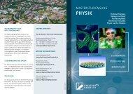 Flyer Masterstudiengang Physik - Universität Bayreuth