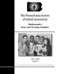2007-2008 Grade 8 Mathematics Item and Scoring Sampler