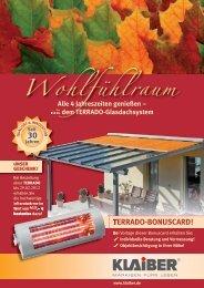 TERRADO-BONUSCARD! - Markisen