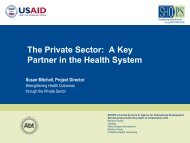 The Private Sector: A Key Partner in the Health ... - (SHOPS) project