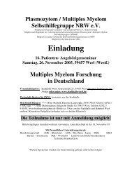 PDF-Doku - Plasmozytom / Multiples Myelom Selbsthilfegruppe ...