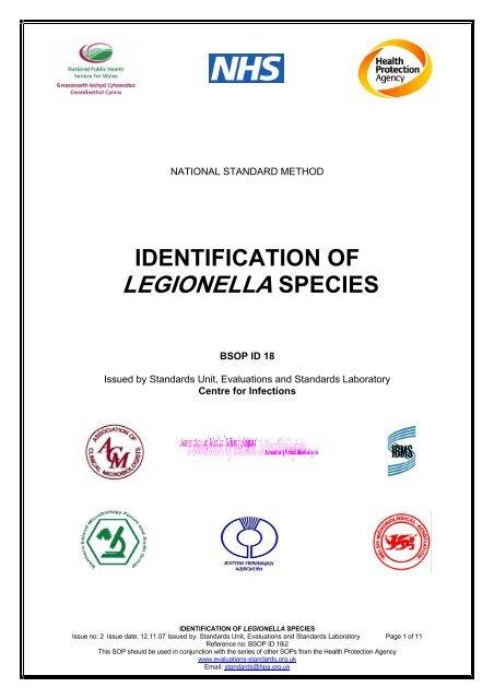 identification of legionella species