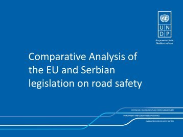 Comparative Analysis of the EU and Serbian legislation on road safety