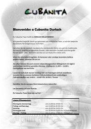 Speisekarte als pdf - Cubanita