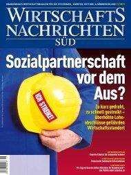Ausgabe 11/2011 Wirtschaftsnachrichten Süd