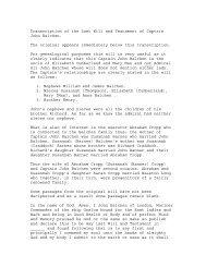 Transcription of the Last Will and testament of Captain John Balchen