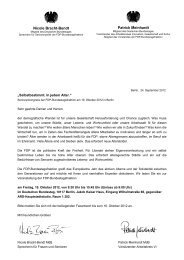 Einladung / Ablauf zum Seniorenkongress in Berlin - 19.10.2012