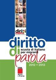 Opuscolo scuola di italiano per migranti 2012/2013 - CGIL Brianza