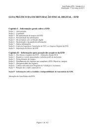 guia prático da escrituração fiscal digital - efd - Secretaria de Estado ...