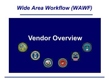 Vendor Overview - U.S. Army