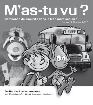 Feuillet d'animation en classe - Société de l'assurance automobile ...