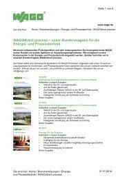 WAGOdirect process – unser Kundenmagazin für die Energie- und ...