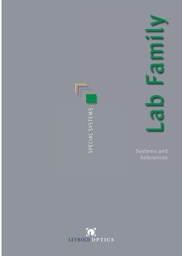 Systems and References - Leybold Optics GmbH