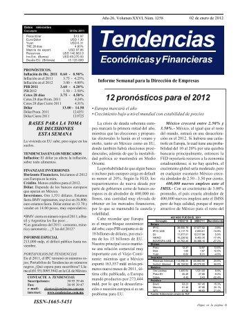 Boletin Tendencias Economícas - 2 Enero 2012