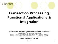 Transaction Processing, Functional Applications & Integration
