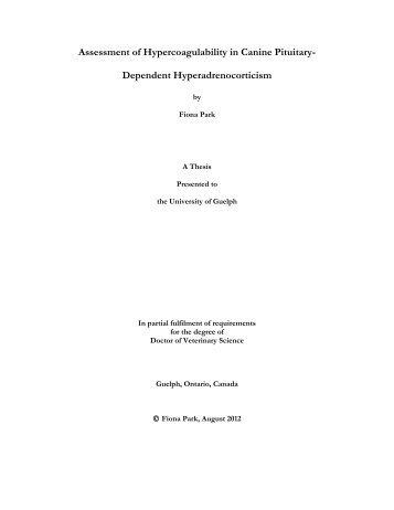Dependent Hyperadrenocorticism - Atrium - University of Guelph