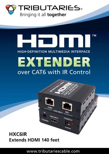 HDMI Extender over CAT6 with IR Control - Tributaries Cable