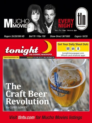 The Craft Beer Revolution - tonight Newspaper