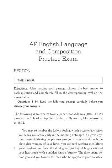 Ap english language essay