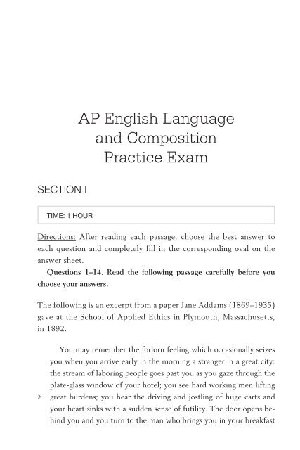 AP English Language And Composition Practice