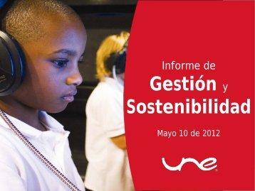 presentación UNE EPM Telecomunicaciones